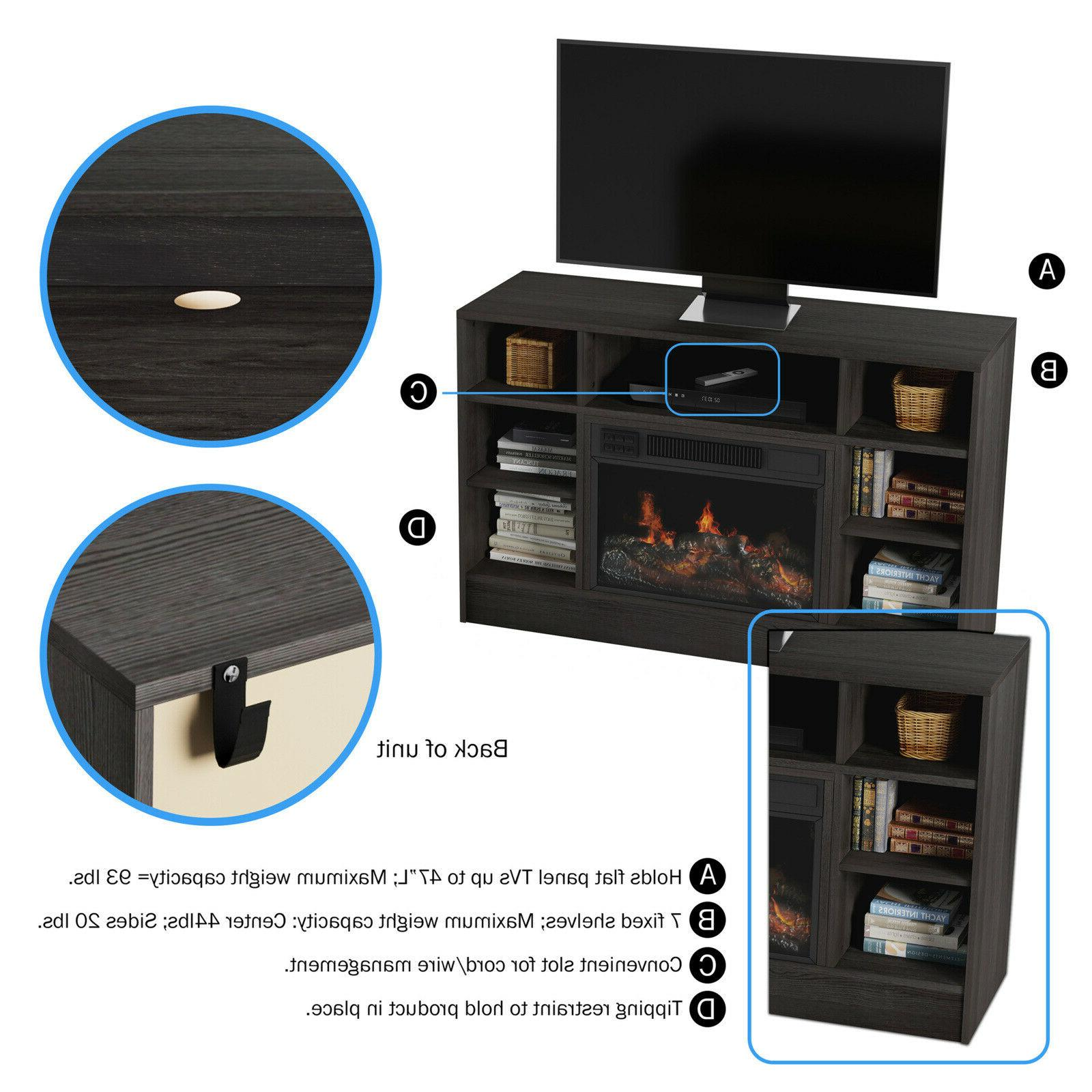 """Electric For TVs up to 48"""" Console Shelves, Remot"""