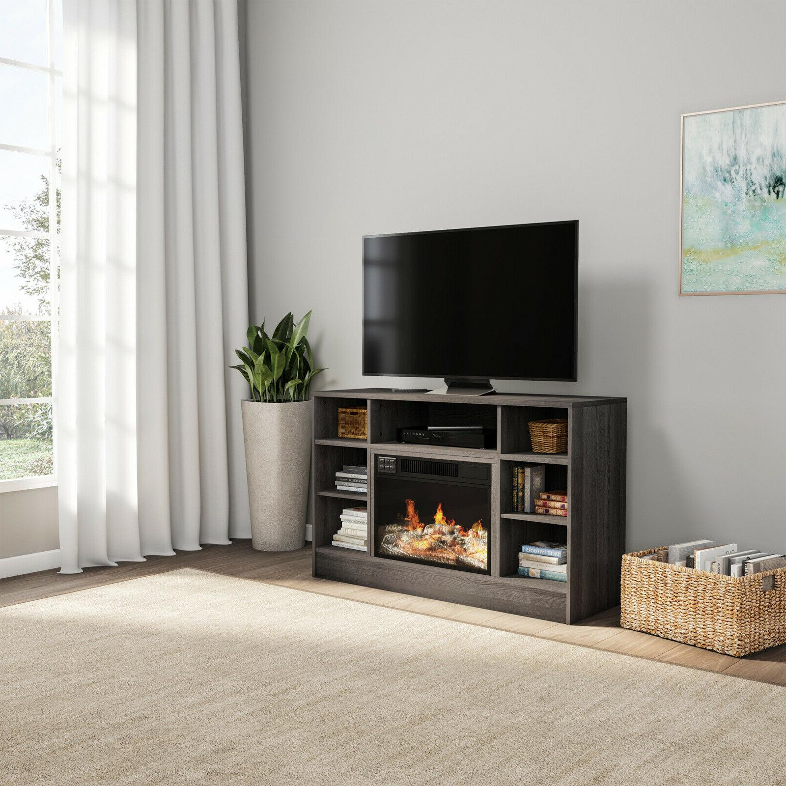 """Electric For TVs 48"""" Console with Media Shelves, Remot"""