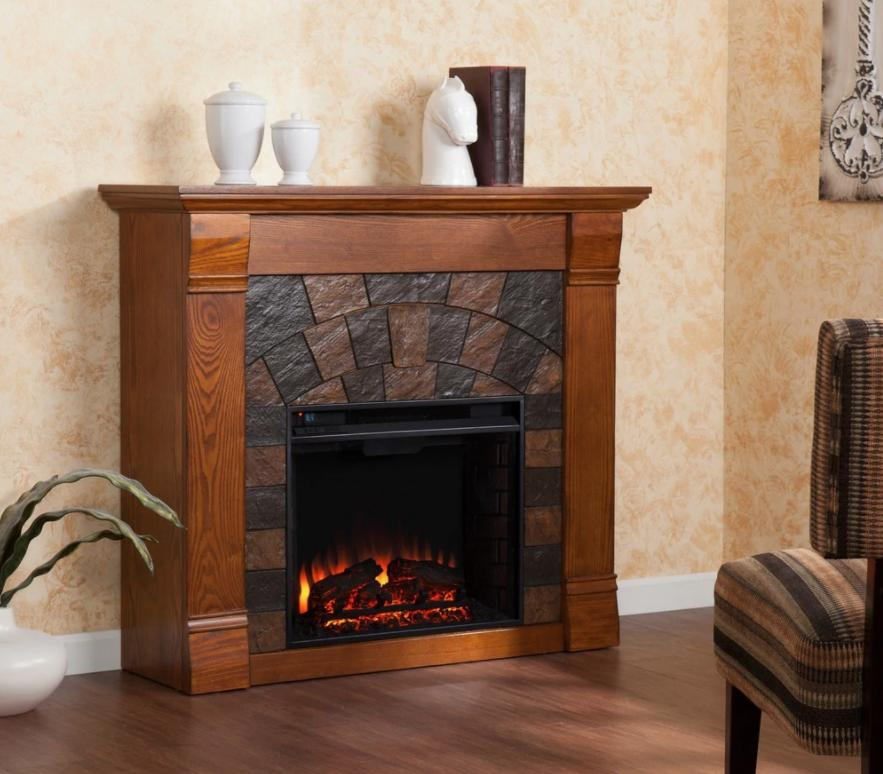 Electric Fireplace Mantel Surround Self Temp
