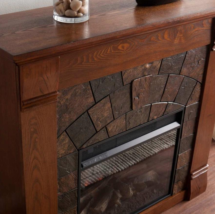 Electric Fireplace With Surround Remote Self Temp