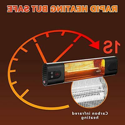Electric Wall-Mounted Heater Remote Outdoor Display
