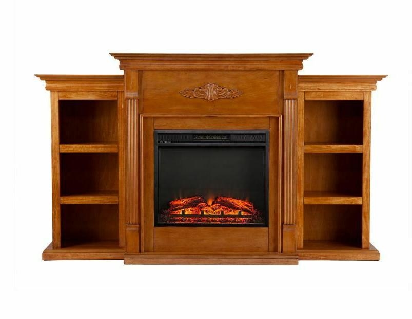 Emerson Electric Fireplace Entertainment Media Center Wood Heater