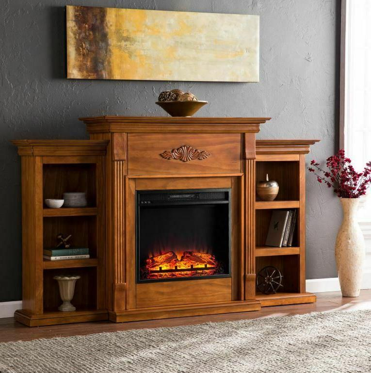emerson electric fireplace stand entertainment media center