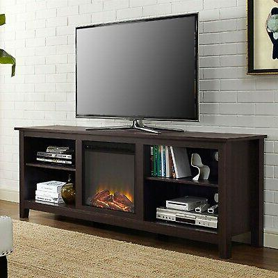 espresso 70 inch electric fireplace tv stand