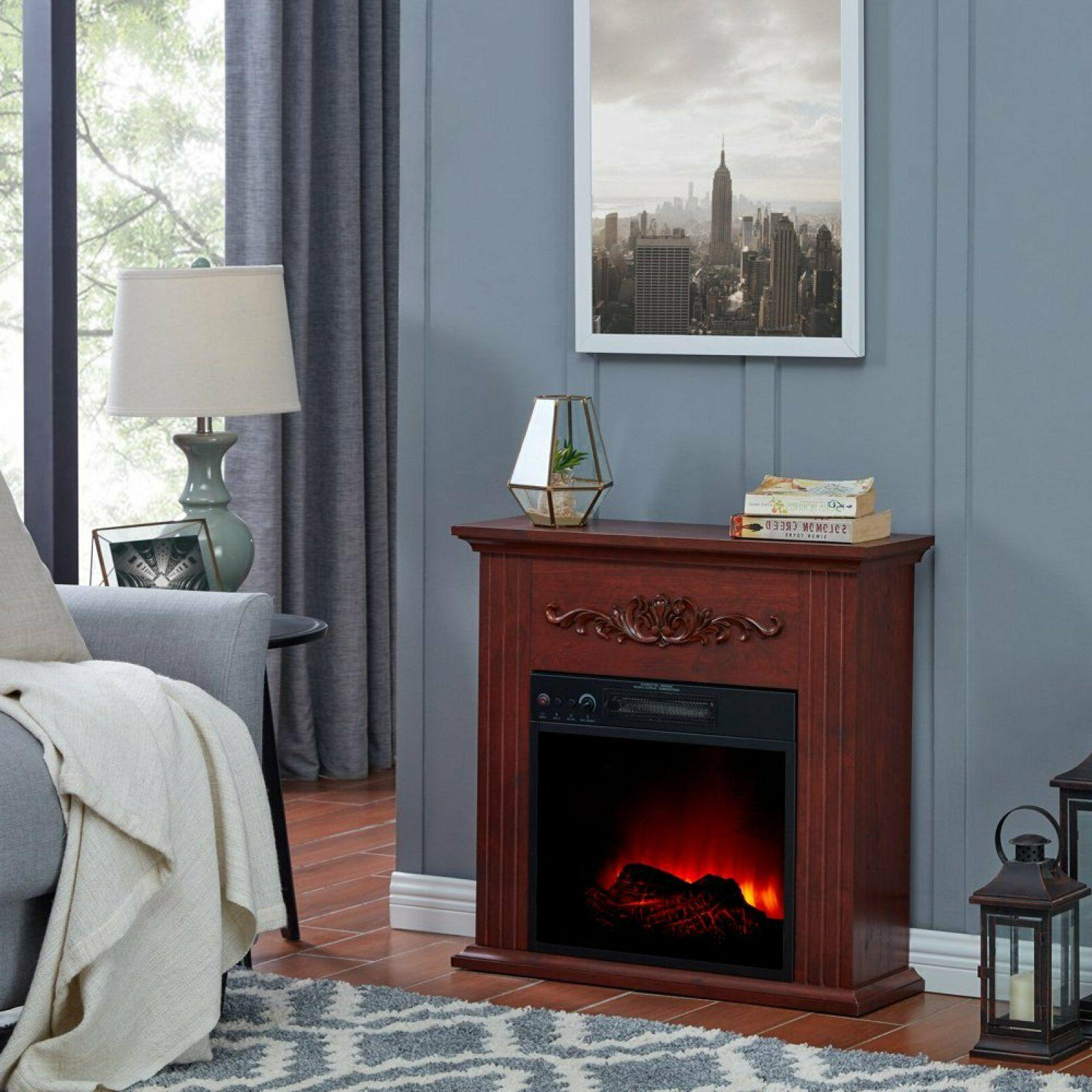 fireplace electric space heater w remote led