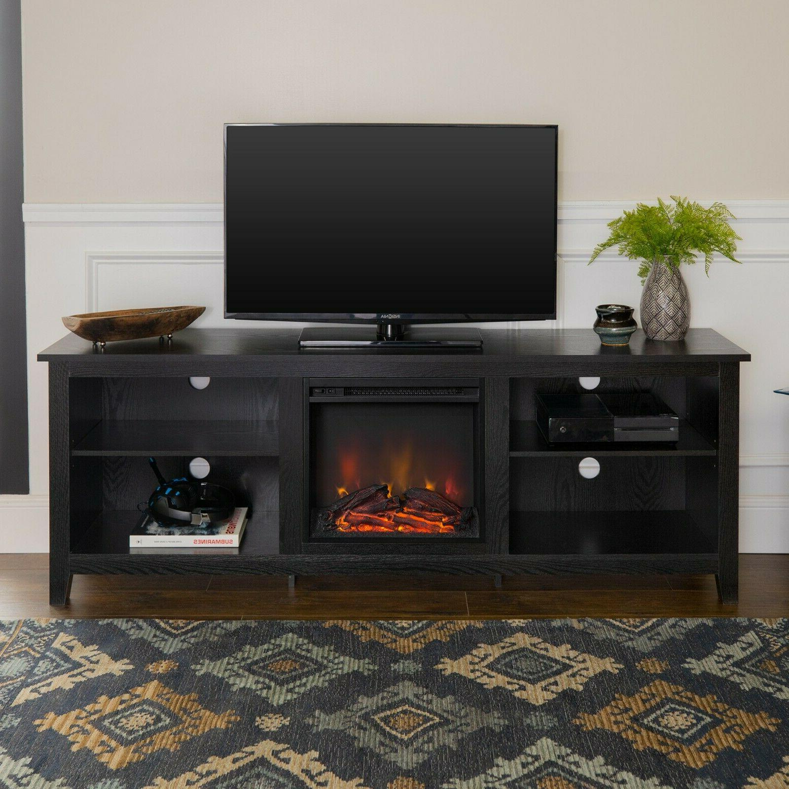 FIREPLACE ELECTRIC 75 Inch Television Media Entertainment