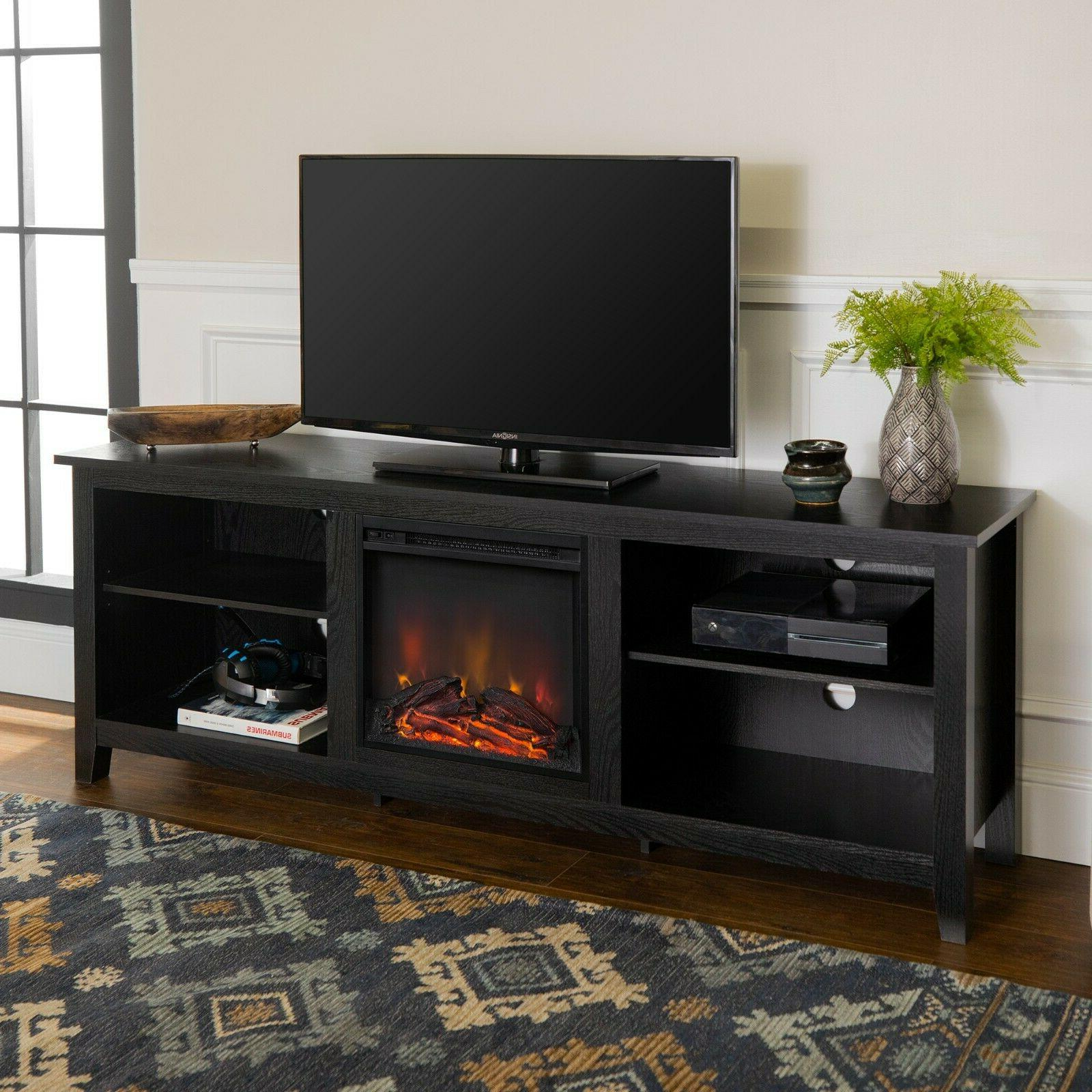 fireplace electric tv stand 75 inch screen