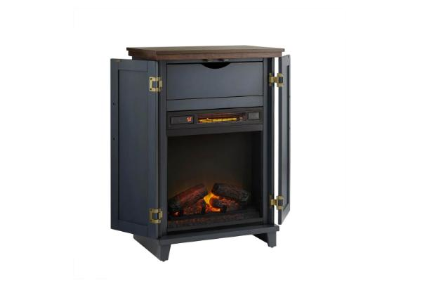 Home Collection Fireplace Dark Blue