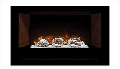 home fire series electric fireplace with glass