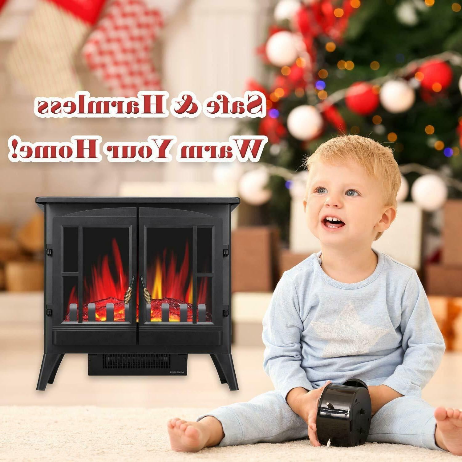 """Infrared Electric 23"""" Fireplectric Stove"""