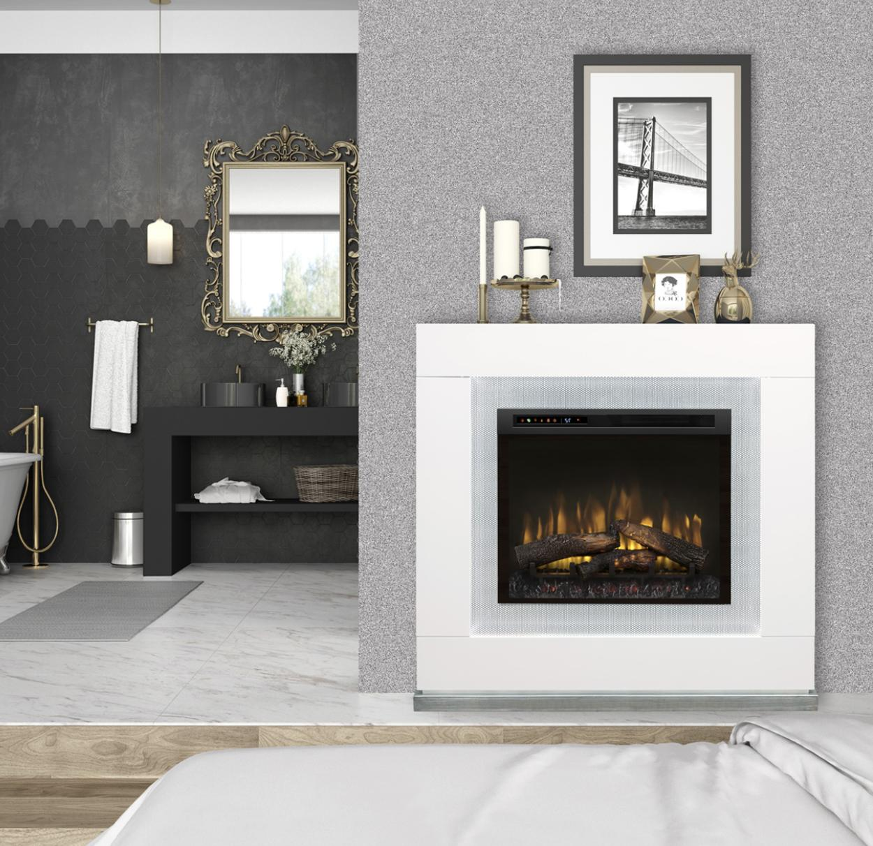 lukas white mantle electric fireplace gds26l5 1675w