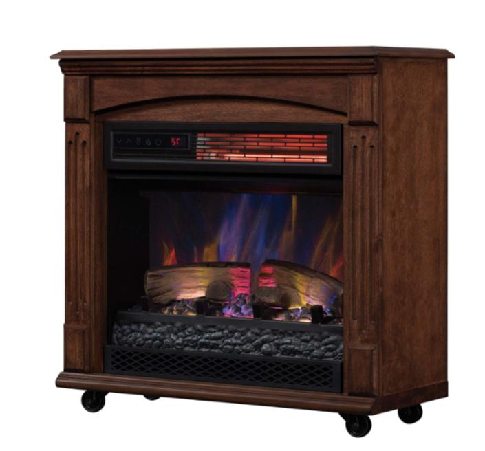 Mantel Electric Fireplace Space Traditional Flame Heat