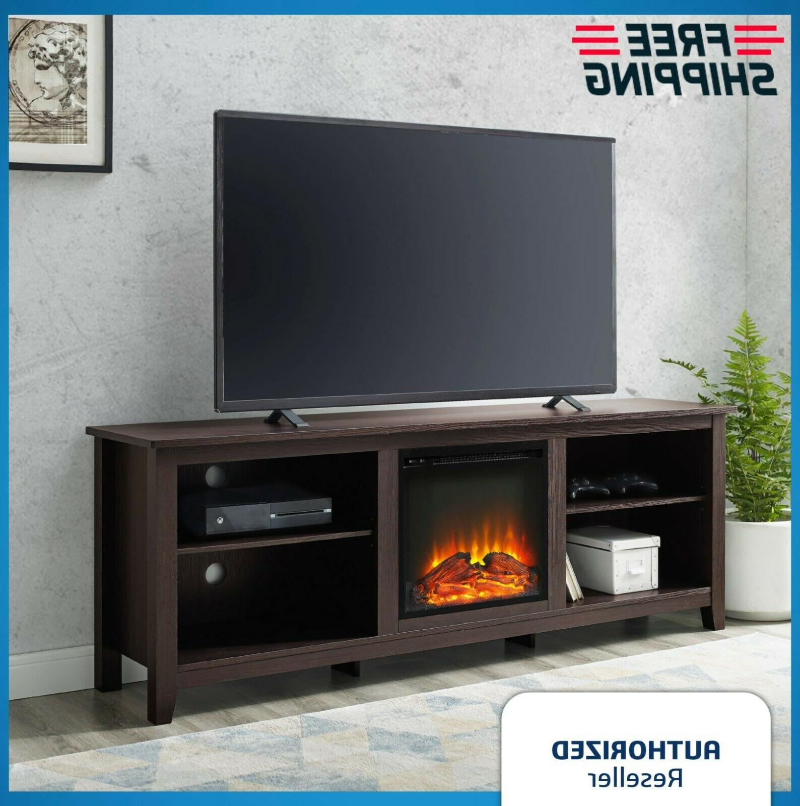modern electric fireplace entertainment center console 70