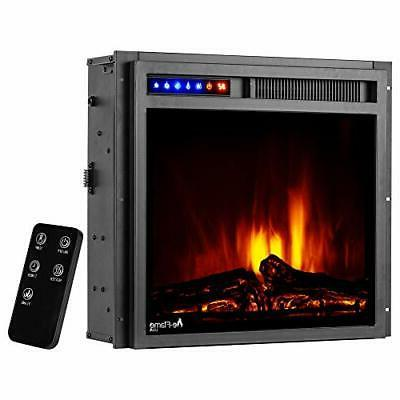 """Montana 19""""x18"""" Electric Fireplace Remote and"""