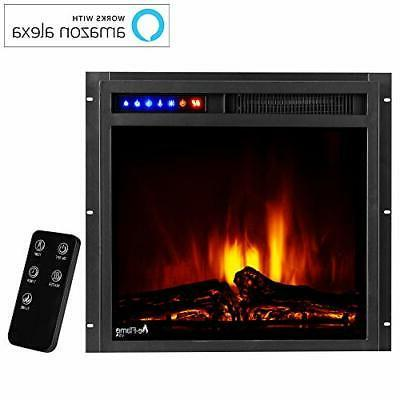 """Montana 19""""x18"""" LED Fireplace Insert Remote 3D and"""