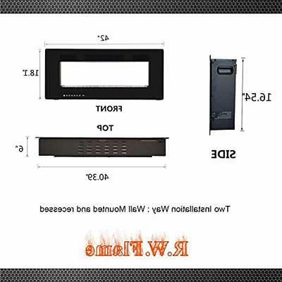 R.W.FLAME inch Fully Recessed Wall