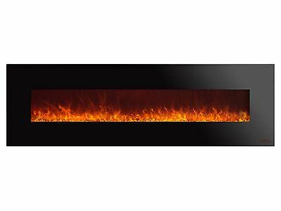 royal 72 inch electric fireplace with crystals