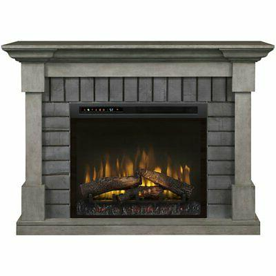 Dimplex Fireplace with Logs Smoke Stack