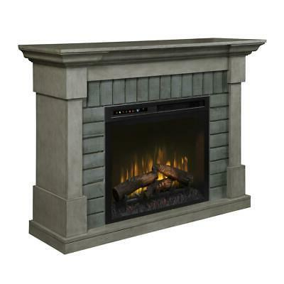 royce mantel electric fireplace with logs in