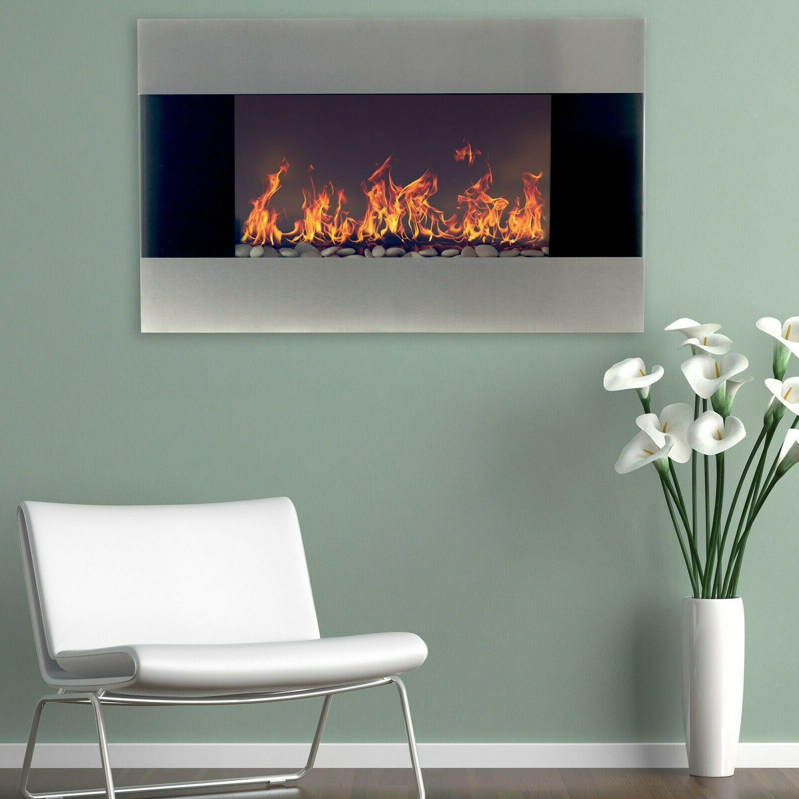 stainless steel electric fireplace