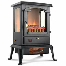 LIFE SMART Quartz Infrared Electric Fireplace Stove Heater w