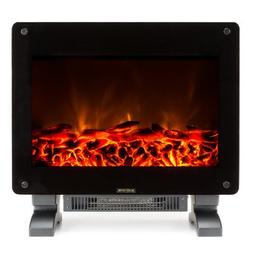 Portable Electric Fireplace Log Flame Compact Heater 1,400W