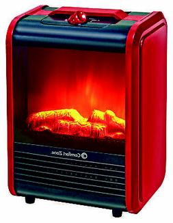 Small Electric Space Flame Heater Mini Fireplace Indoor Shut