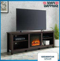 """Modern Electric Fireplace Entertainment Center Console 70"""" T"""