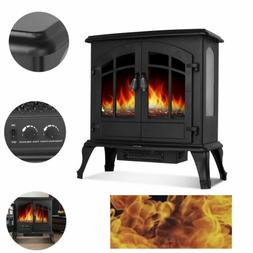 Modern Electric Freestanding Fireplace Stove Portable Indoor