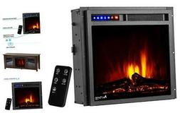 """Montana 19""""x18"""" LED Electric Fireplace Stove Insert with Rem"""