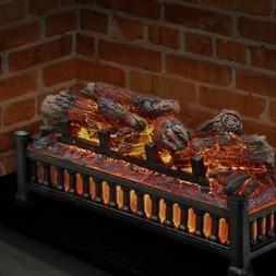 NEW Portable Electric Fireplace Logs w/ Cracking Sound Fire