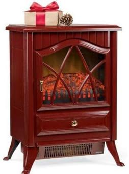 Portable Indoor Heater Electric Compact Unique Style Red Fir