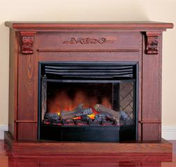 ProCom Deluxe Full Size Electric Fireplace With Remote Contr