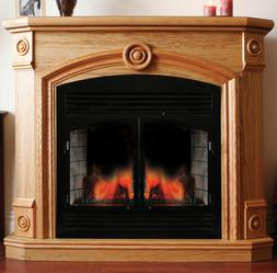 ProCom Full Size Deluxe Electric Fireplace With Remote Contr