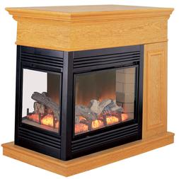 ProCom Full Size Electric Peninsula Fireplace With Remote Co