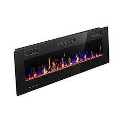 R.W.FLAME Electric Fireplace 42 inch Fully Recessed and Wall