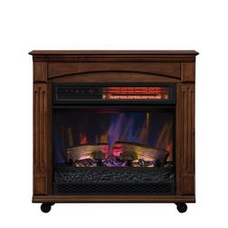 rolling mantel infrared quartz electric fireplace space