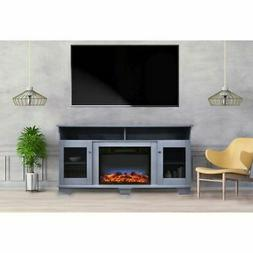 """Savona 59"""" Electric Fireplace w/Stand and Multi-Color Flame"""