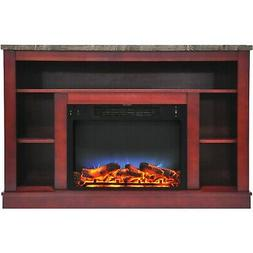 """Cambridge Seville 47"""" Electric Fireplace Mantel Heater with"""