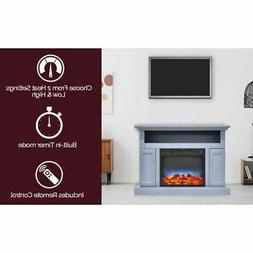"""Sorrento Electric Fireplace w/Multi-Color LED Insert and 47"""""""