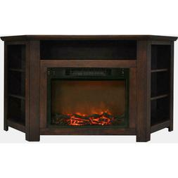 Cambridge Stratford 56 in. Electric Corner Fireplace with 15