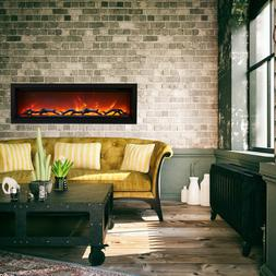 """Amantii SYM-50 Clean Face Built-In 50"""" Electric Fireplace In"""