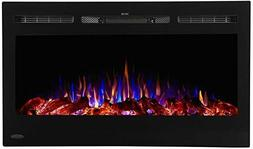 "Touchstone -Sideline 80014 36"" Recessed Electric Fireplace"