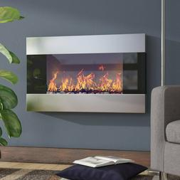Wall Mounted Electric Fireplace Heating Luxurious LED Flames